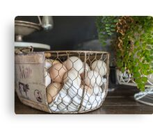 Eggs in the basket Canvas Print
