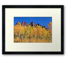 Color me Orange Yellow Red and Blue Framed Print