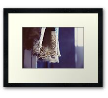 In the weary morning Framed Print