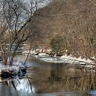 Winter Views of Contoocook River  by Monica M. Scanlan