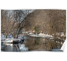 Winter Views of Contoocook River  Poster