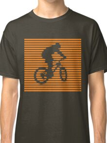 Cyclist - orange-lined bike Classic T-Shirt