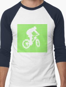 Cyclist - green-lined bike Men's Baseball ¾ T-Shirt