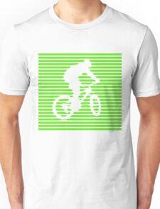 Cyclist - green-lined bike Unisex T-Shirt