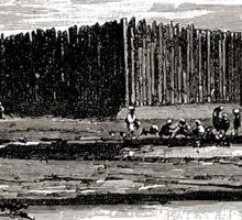 Édouard Riou Poste magasin français pounégui afrique riou 1890 Sticker