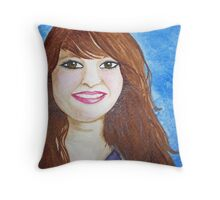 Girl With Rosie Cheeks Throw Pillow