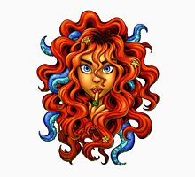 Tentacle Hair Lady- red T-Shirt