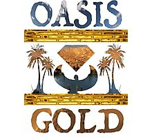 """""""Oasis Gold"""" shirt all white Photographic Print"""