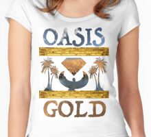 """Oasis Gold"" shirt all white Women's Fitted Scoop T-Shirt"