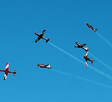 RAAF Roulettes in a whirl - Airshow Downunder 2011 by Bev Pascoe