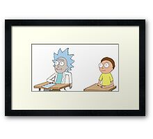 Tiny Rick and Morty Framed Print