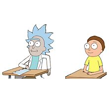 Tiny Rick and Morty Photographic Print