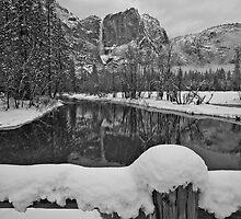 Yosemite Falls From Swinging Bridge by photosbyflood