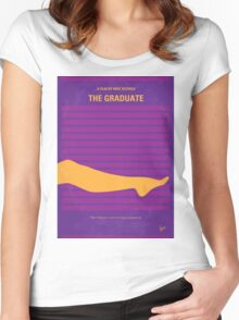 No135 My THE GRADUATE minimal movie poster Women's Fitted Scoop T-Shirt