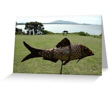 Metal Fish,Sculpture Exhibition,Bermagui,Australia 2015 Greeting Card