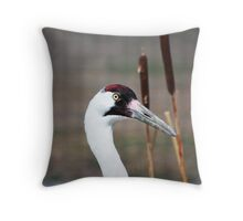 Whooping Crane Throw Pillow