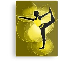 Super Smash Bros. Yellow Wii Fit Trainer (Female) Silhouette Metal Print