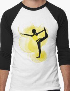 Super Smash Bros. Yellow Wii Fit Trainer (Female) Silhouette Men's Baseball ¾ T-Shirt