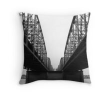 Between the Trusses Throw Pillow