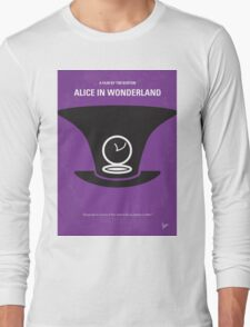 No140 My Alice in Wonderland minimal movie poster Long Sleeve T-Shirt