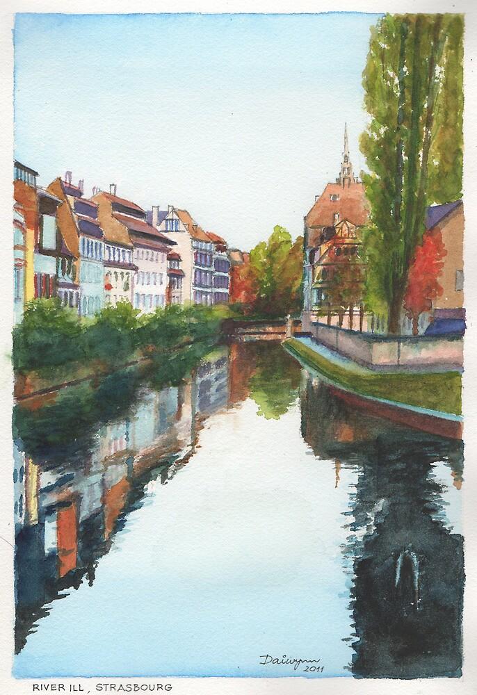 River Ill, Strasbourg by Dai Wynn