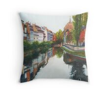 River Ill, Strasbourg Throw Pillow
