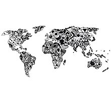 World Map in a mathematician universe Photographic Print