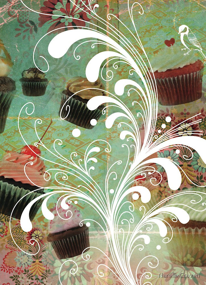 vintage cupcakes by Narelle Craven