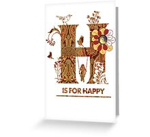 Happy Card Greeting Card