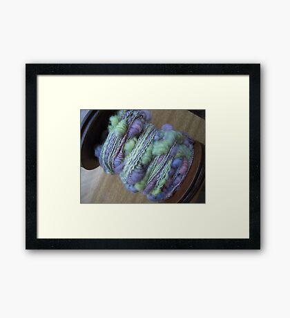 Art Yarn Framed Print