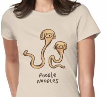 Poodle Noodles Womens Fitted T-Shirt