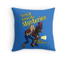 Nomi and Amanita Mysteries Throw Pillow
