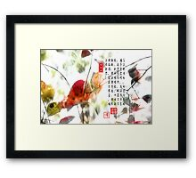 New Year Greetings Framed Print
