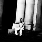 Man in white by Gwynne Brennan