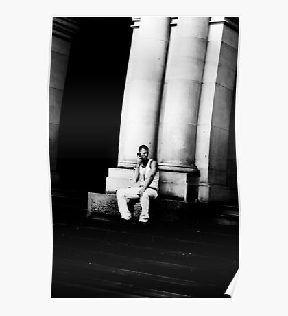 Man in white Poster