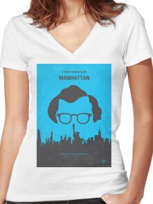 No146 My Manhattan minimal movie poster Women's Fitted V-Neck T-Shirt