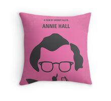 No147 My Annie Hall minimal movie poster Throw Pillow