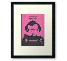 No147 My Annie Hall minimal movie poster Framed Print
