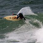 Surfer At The Point Lennox by oscar016