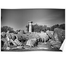 Part of Τemple of Zeus. Ancient Olympia / Greece Poster