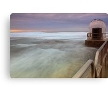 Merewether Ocean Baths - The Dome and Birds Canvas Print