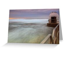 Merewether Ocean Baths - The Dome and Birds Greeting Card