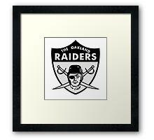 Oakland Raiders logo 3 Framed Print