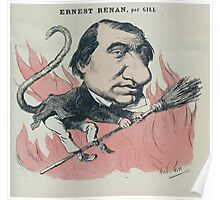 André Gill Caricature of Ernest Renan by Gil Poster