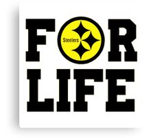 Pittsburgh Steelers logo 1 Canvas Print