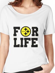 Pittsburgh Steelers logo 1 Women's Relaxed Fit T-Shirt