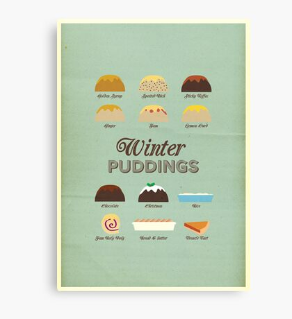 Winter Puddings - A selection of British Classics Canvas Print