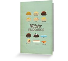 Winter Puddings - A selection of British Classics Greeting Card