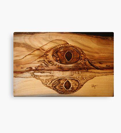 Eye of a Fresh Water Croc Canvas Print