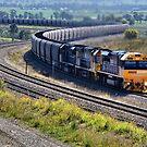 Hunter Valley Coal Train NSW Australia by Phil Woodman